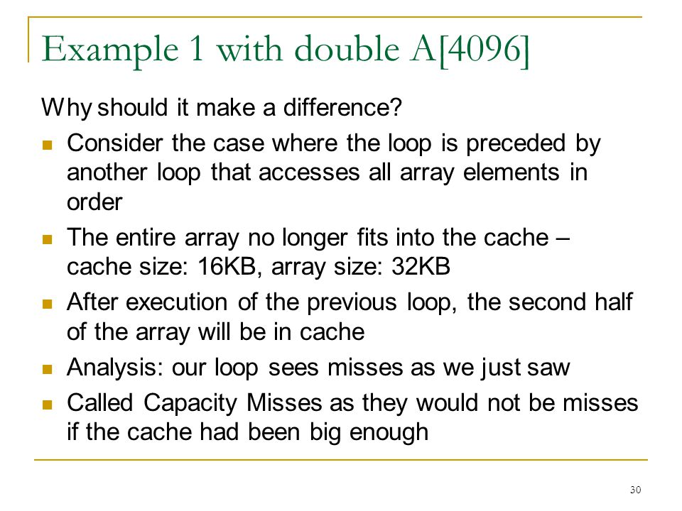 Example 1 with double A[4096]